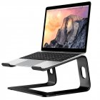 Aluminum Alloy Notebook Bracket Raise Computer Desktop Metal Base Heat Dissipation Anti-Skid Stand black