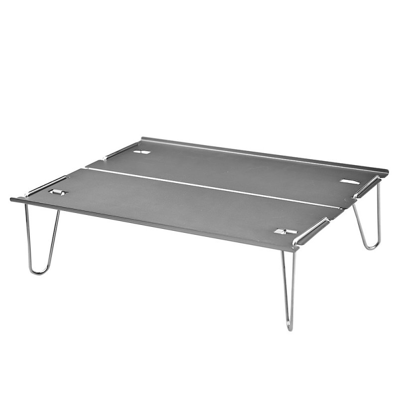 Aluminum Alloy Portable Table Outdoor Foldable Folding Camping Hiking Desk Traveling Outdoor Picnic Table silver gray