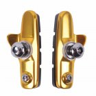 Aluminum Alloy Road Bike Brake Block C brake Fixed Cog Silent Brake Block Piece Water Guide Rubber Brake Piece Bicycle Accessories Gold