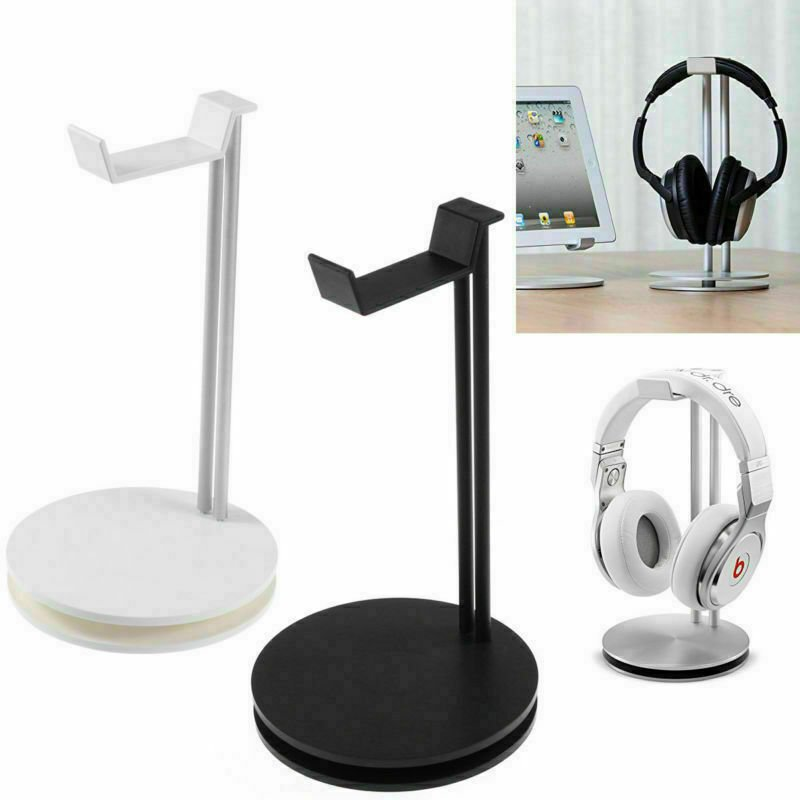 Aluminum Earphone Hanger Headset Holder Headphone Bracket Desk Display Stand Silver
