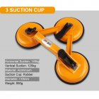 Aluminum Glass Sucker Tile Glass Lifter Home Improvement Tool Yellow aluminum three-jaw glass suction cup
