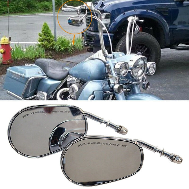 Aluminum Motorcycle Rear View Mirrors silver
