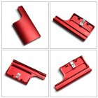 Aluminum Replacement Rear Snap Latch Waterproof Housing Buckle Lock for GoPro Hero 4 3  red