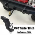 Aluminum Tow Trailer Drop Hitch Receiver Car Hook for 1/10 TRAXXAS TRX-4 Crawler black