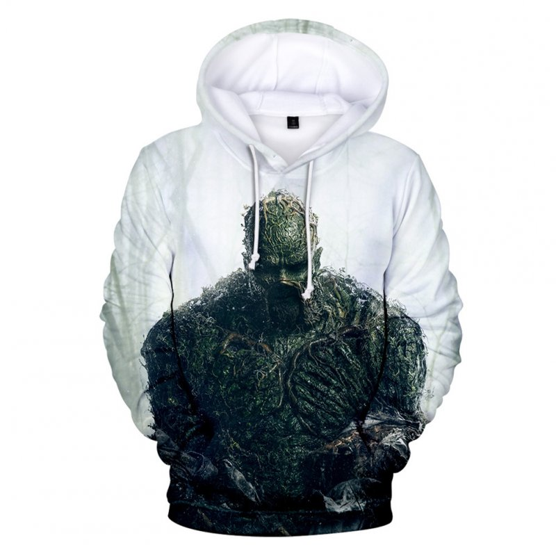 American TV Thriller Superhero Swamp Thing Suede Hoodies B style_L