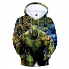 American TV Thriller Superhero Swamp Thing Suede Hoodies A style XXXL
