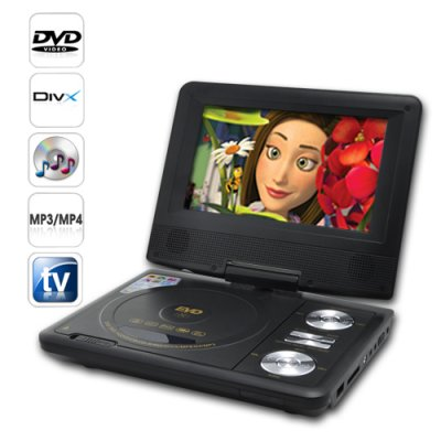 Portable DVD Player w/ 7 Inch LCD Widescreen