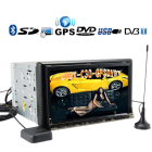 An impressive 2 DIN complete in car GPS navigation  Digital TV and multimedia system with responsive touchscreen convenience on a large 7 inch screen