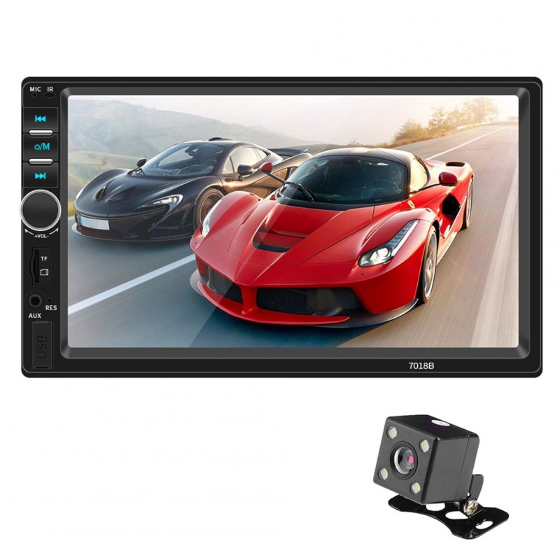 Android IOS Interconnection HD 7 Inch Car MP4 Plug-in Vehicle MP5 Player Touch Screen Multimedia Player  With camera