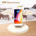 Angel Wings Qi Wireless Charge Dock 10W 3 0 Fast Charger Type C for iPhone X XR 8 Plus Smasung S9 S10 Plus for Huawei white