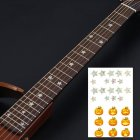Animal Plant Pattern Guitar Fingerboard Fretboard Stickers Guitar Decals Decoration A (pumpkin)