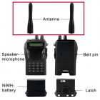Antenna for CVESQ PG5118 220V A Professional Walkie Talkie Set