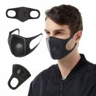 Anti Dust Mask Anti PM2.5 Pollution Face Mouth Respirator Black Breathable Valve Mask Filter 3D Mouth Cover black_5 pcs