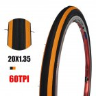 Anti Puncture Bicycle Tires 60TPI/14 16 Folding Tyres Road Bike Accessories 20 * 1.35 black orange tire