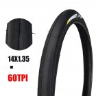 Anti Puncture Bicycle Tires 60TPI/14 16 Folding Tyres Road Bike Accessories 14 * 1.35 black tire