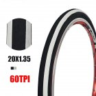 Anti Puncture Bicycle Tires 60TPI 14 16 Folding Tyres Road Bike Accessories 20   1 35 black and white tire