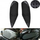 Anti Slip Oil Box Pad Sticker Gas Knee Grip Traction for Suzuki GSXR600 GSXR750 08-10 black