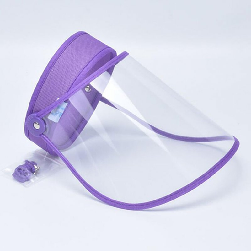 Anti-droplet Empty Top Hat Safety Face Protector Proof Anti-Spitting Cover Cap purple
