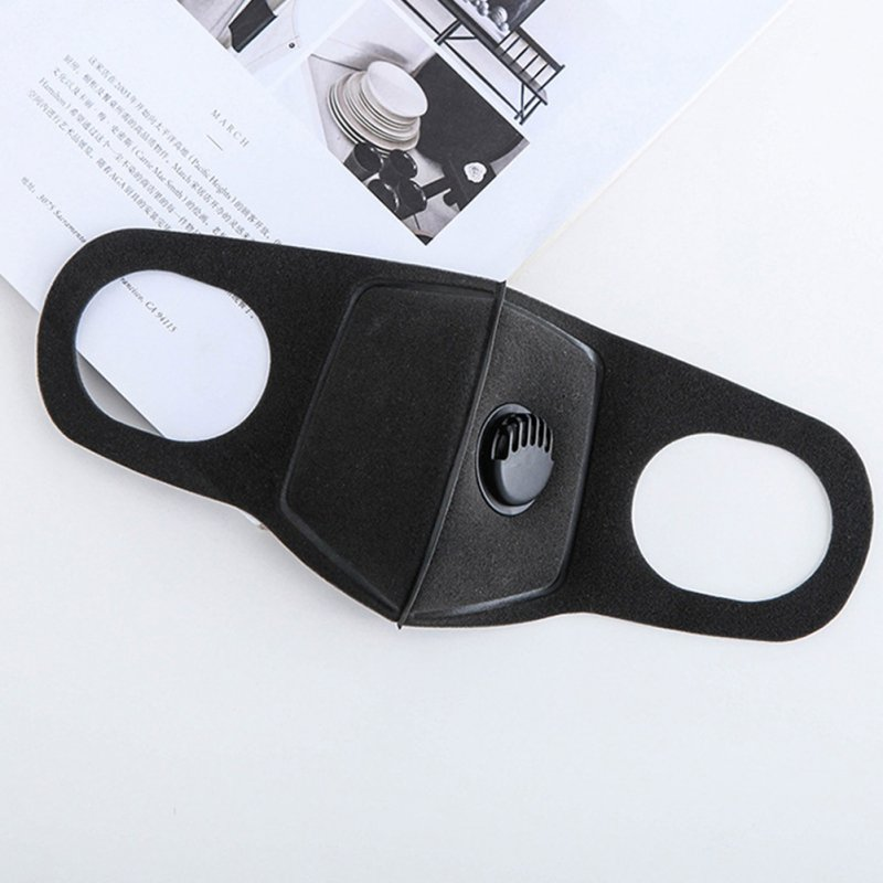 Anti-dust Anti-smog Pm2.5 Masks Mouth-muffle Breathable Sponge Face Mask Anti Pollution Face Shield Wind Proof Mouth Cover black