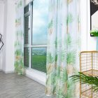 Anti-mosquito Drapes Banana Leaf Printing Tulle Curtain for Living Room Bedroom Window Decoration 100*200cm Green_1m wide x 2m high