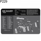 Anti slip Rubber Neoprene Cutting Pad Work Table Pad Exploded View Printed Mouse Pad Mat P229