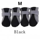 Anti slip Unisex Soft soled Shoes Waterproof Shoes Protective Rain Boots for Pet Dog black M