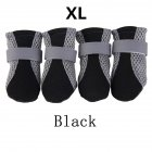 Anti-slip Unisex Soft-soled Shoes Waterproof Shoes Protective Rain Boots for Pet Dog black_XL