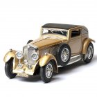 Antique Light Sound Pull Back Car Modeling Toy for Bentley 8L Collection(Box Packing) Gold