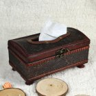 Antiquing Handmade Wooden Tissue Box for Home Hotel Bar Car Use Arch