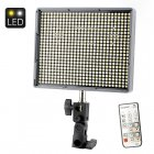 Aputure HR672C LED Video Light has 672 LEDs  6620 Lumens  Adjustable Color Temperature as well as coming with a 2 4GHz Wireless Remote