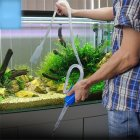 Aquarium Manual Cleaner Tool Siphon Gravel Suction Pipe Fish Tank Vacuum Water Change Pump Tools