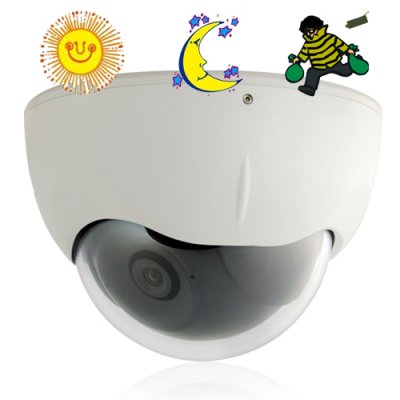 Vandalproof CCD Color Dome CCTV Camera