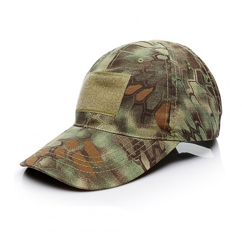Army Fan Outdoor Baseball Cap Tactical Camouflage Cap Jungle Python Pattern _One size