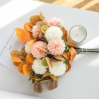Artificial Flowers Simulate Bouquet for Home Living Room Resturant Decor Orange
