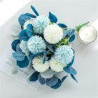 Artificial Flowers Simulate Bouquet for Home Living Room Resturant Decor Blue