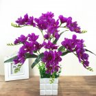 Artificial Freesia Flower with 9 Branches for Home Living Room Decor purple