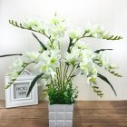 Artificial Freesia Flower with 9 Branches for Home Living Room Decor White