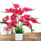 Artificial Freesia Flower with 9 Branches for Home Living Room Decor Rose red