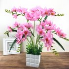 Artificial Freesia Flower with 9 Branches for Home Living Room Decor pink
