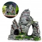 Artificial Mini Rockery with Cave for Aquarium Fish Tank Decoration As shown