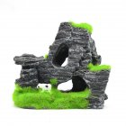 Artificial Moss Rock Cave Fish Tank Aquarium Decoration Random