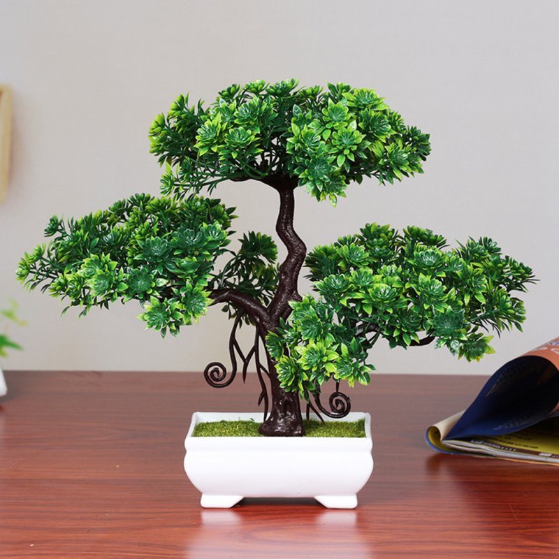 Wholesale Artificial Pine Bonsai Doubledeck Green Pine From China