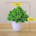 Artificial Plant Bonsai for Home Decorative Craft Dinning Table Ornament green