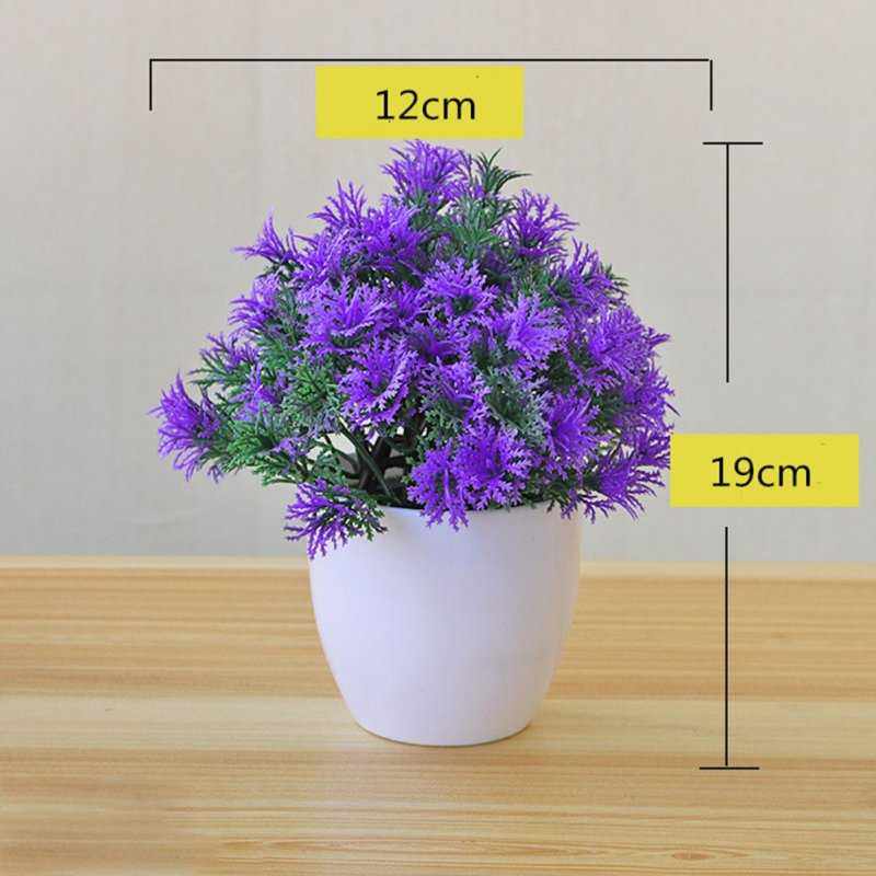 Artificial Plant Bonsai for Home Decorative Craft Dinning Table Ornament purple