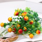 Artificial Plants Lucky Auspicious Flower Fruit Simulation Rich Fruit Plastic Flower Photography Props Home Decoration Orange