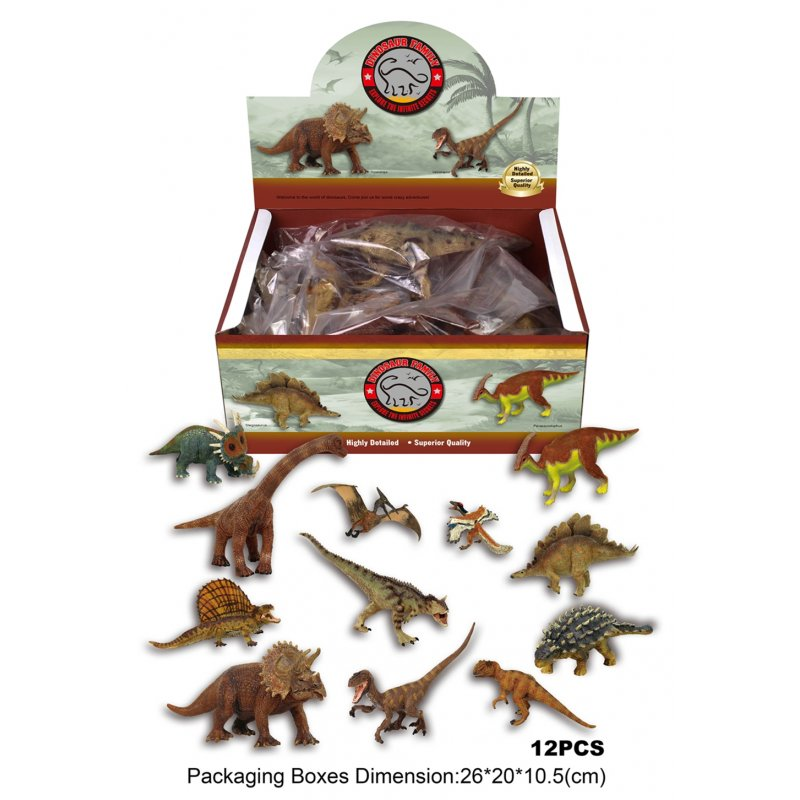 [US Direct] Assorted Dinosaur Toy Figures Highly Detailed Dinosaur Toys - 12 Pieces