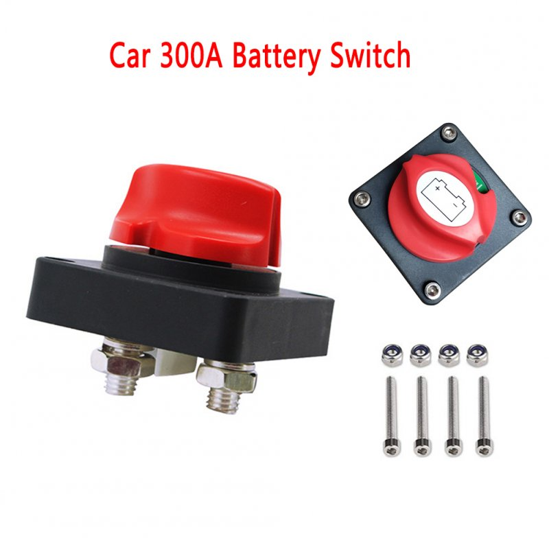 Auto Battery Power Off Switch Brass+ABS Battery Disconnect Cut On/Off Rotary Switch Boat RV ATV Marine Boat 12V24V Switch Red black