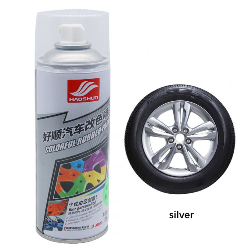 Auto Wheel Spray Film Car Tire Color Change Wheel Hub Paint silver