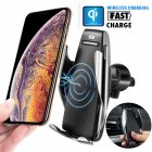 Automatic Clamping Wireless Fast Car Charger Mount Holder with Charging Reciever Wireless charging
