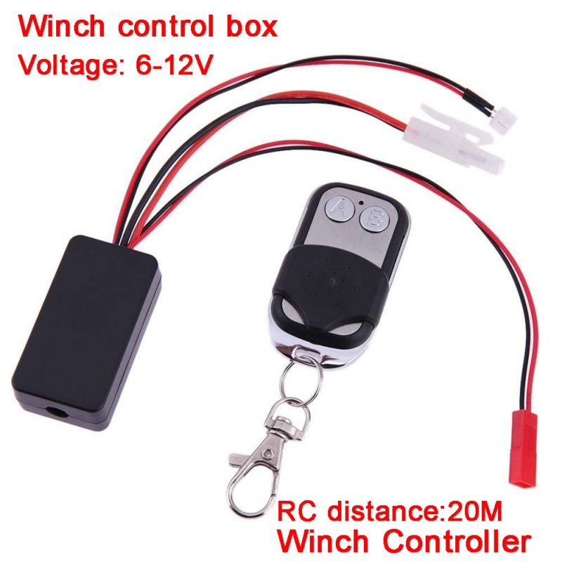 Automatic Crawler Winch Control Wireless Remote Controller Receiver for 1/10 RC Car Off-road Traxxas SCX10 D90 D110 TF2 TRX4 KM2 Random Color